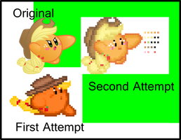 Applejack Kirby Sprite Improved by jrk08004