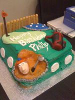 Male Golfer cake by cakesbyrachel