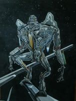 Starscream Back on Cybertron  Detail I by Catskind