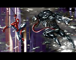 Spidey Vs Venom by albreech