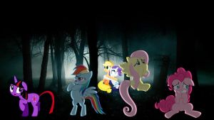 Mane 6 Get Lost In The Woods by Macgrubor