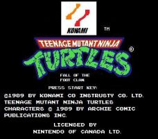 TMNT Fall of the Foot Clan NES by BuddyBoy600