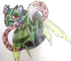 Rat insect leopard thing by leafeon-ex