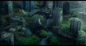 Overgrown city - Project Xplor3 by MarkButtonDesign