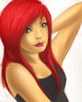 A girl with red hair by sushiekat