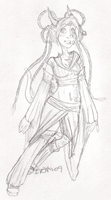 Aireonna OC - sketch by Quon-chan