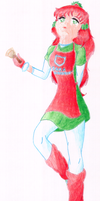 Bell Ringer Holly - Coloured by Sakura-Courage-Solo