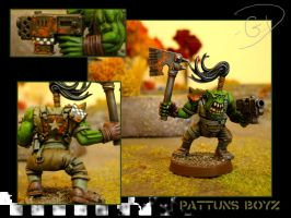 Pattuns Boyz Ork Test Model by aaronprovost