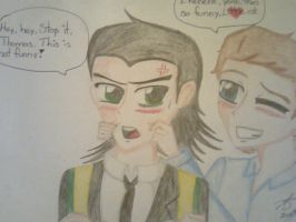 Loki and the Loon- Little and pretty Loki by Spookytaco99