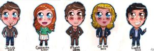 The Librarians (Chibi Version!) by RachelRoseLitts