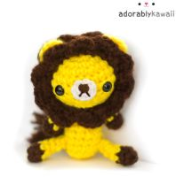 Yellow + Brown Lion Plush by adorablykawaii