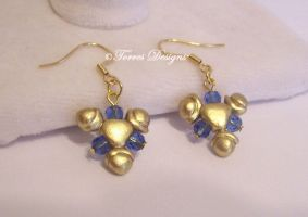 Zora Sapphire Earrings ZELDA 14K Gold OOAK by TorresDesigns