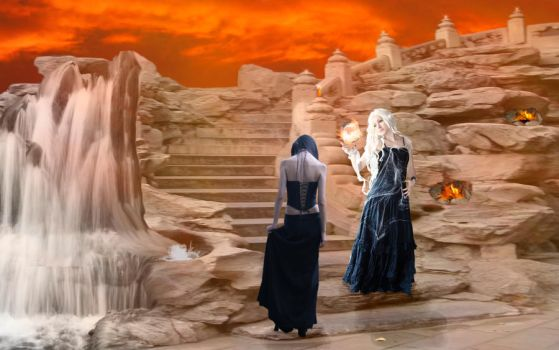 Sisters Of Fire by FireOpal14