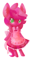 Lil horse in a dress by Paintrolleire