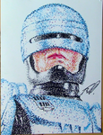 Robocop Pointillism by AnthonyParenti