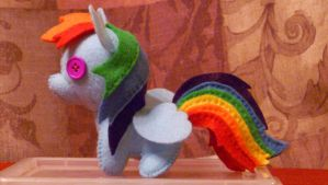 Rainbow Dash Pony Plush by haiban