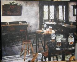 Three Broomsticks Pub by Artem-Anima