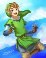 Skyward Sword Link by Zelbunnii