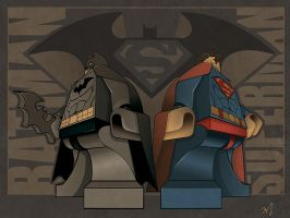 Batman and Superman by The-Cosmic-Kid
