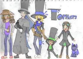 Tophats Characters by xGI-Janiex