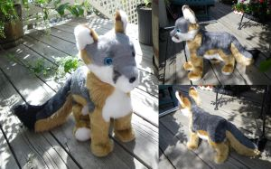 Grey Fox Plushie by SilentRavyn