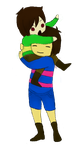 Frisk Holding Chara by MimiKelly23