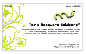 Moin's Business Card 4 by smoinuddin1110