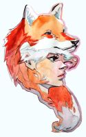 Fox Hat Girl by taho