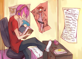 Study time by Kukiko-tan