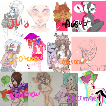 2014 Art Summary (part 2) by SinnersOfTheHeart