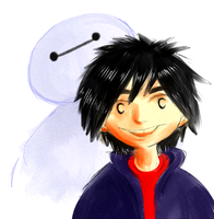 big hero 6 doodle by X3carlyX3