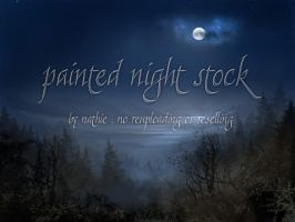 Painted Background Night 1 by nathies-stock