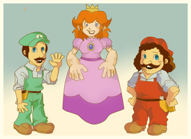 Super Mario Brothers Super Show by daremaker