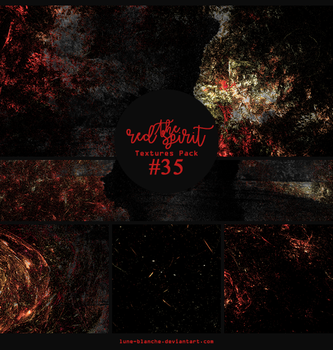 Textures pack #35 - The Red Spirit by lune-blanche
