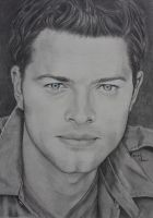 Misha Collins (Castiel) by BrookeShane