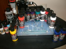 My airbrush set by akoyma