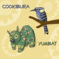 Yumbat and Cookibura by PashaPup