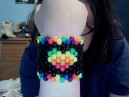 Black and Rainbow Heart Cuff by Kandifiedkitten
