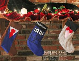 Doctor Who Christmas Stockings by DarlingArmy