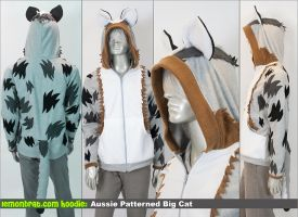 Aussie Patterned Big Cat Custom Hoodie! by lemonbrat