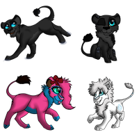 PC~ Felines-Chibi ~TheRealBlackLion by lolpeaceoutlol