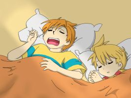 Claus and Lucas sleeping by ValaPocho