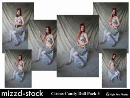 Circus Candy Doll Pack 3 by mizzd-stock