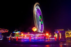 Funfair lights by sleepielion