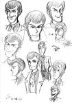 Lupin III: Doodling faces by ShinRedDear