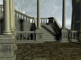 3D Background: Stairway by Sheona-Stock