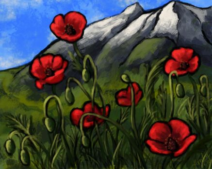 Poppies by AmbyRough