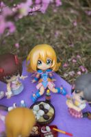 Dark Magician Girl enjoying Hanami by kixkillradio