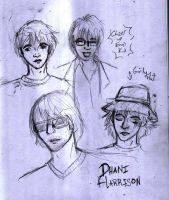 Dhani Harrison Sketch 1 by TomoeCosmo