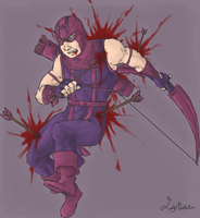 AVENGERS : wounded hawk by LadyNorthstar